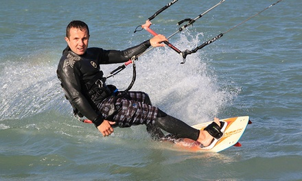 Stand-Up Paddleboarding or Kiteboarding Crash Course for One or Two or from Aerial Kiteboarding (Up to 74% Off)