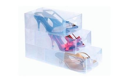 5, 10, 20 ou 30 caixas transparentes para arrumar sapatos desde 12,99€