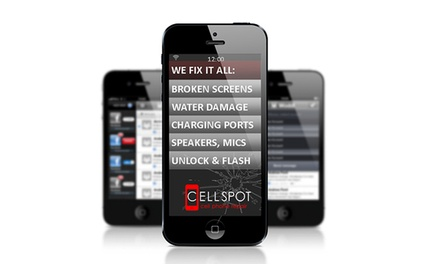Screen Repair for an iPhone or Samsung Galaxy Device at CellSpot Cellphone Repair (Up to 57% Off)
