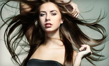Haircut Package with Deep-Conditioning Treatment and Eyebrow Wax or a Keratin Treatment at A Nu U Salon (Up to 54% Off)