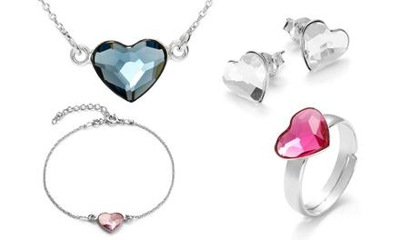 Pulseira, brincos, colar ou anel My Love com Swarovski Elements desde 14,99€ ou conjunto completo por 39,99€