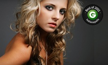 Haircut Package with Option of Partial or Full Highlights or Full Color at Just Teasin' Hair Salon (Up to 56% Off)