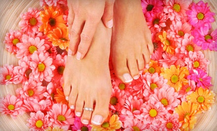 Spa Mani-Pedi or Three Groupons, Each Good for One Spa Manicure with Shellac Polish at Seaside Day Spa (51% Off)