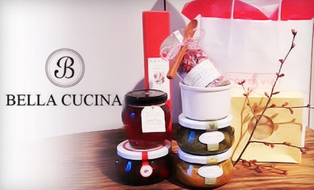 Valentine&#x27;s Day Gift Bag or Gifts and Groceries at Bella Cucina (Up to 58% Off). Three Options Available.