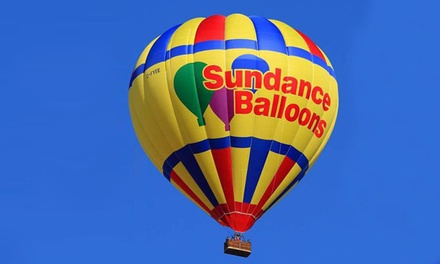 Hot-Air Balloon Ride for 1 or 2 on a Weekday Morning, Evening or Anytime from Sundance Balloons (Up to 43% Off)