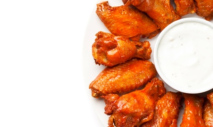 Wings with 23 Signature Sauces and Casual American Food at Wing Heaven (Up to 42% Off). Two Options Available.