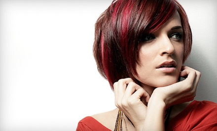 Haircut and Style with Deep-Conditioning Treatment or with Color Service or Texture Perm at Dove Salon (Up to 54% Off)