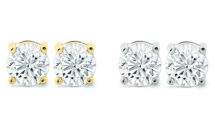 2.00 CTTW AAA Cubic Zirconia Stud Earrings