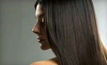 Brazilian Blowout with Optional Cut or Full Color and Cut at Enchanted Salon &amp; Spa Up to 69% Off)