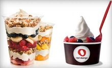 Frozen Yogurt or Smoothies at Red Mango (Up to 55% Off). Four Options Available.