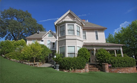 1-Night Stay for Two with Optional Brewery Dining Credit at Power's Mansion in Auburn, CA. Combine Up to 7 Nights.