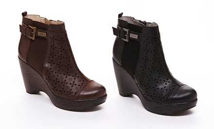 Jambu Brighton Leather Wedge Booties