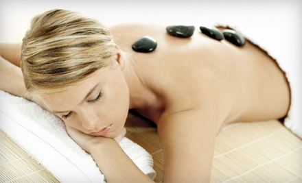 60-, 90-, or 120-Minute Hot-Stone or Deep-Tissue Massage from Andrea at Dharma Salon (Up to 55% Off)