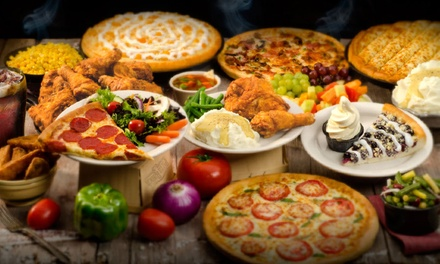 Pizza and Chicken Buffet for Two or Four or $14 for $20 Worth of Carryout and Delivery at Pizza Ranch