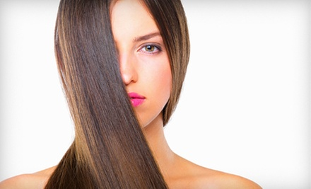 Haircut and Style with Thermal Conditioning Treatment or Partial Highlights and Glaze at Envy Hair Salon (Up to 53% Off)