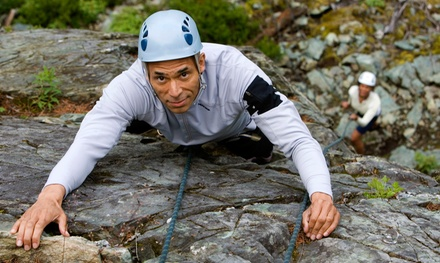 Half-Day Intro Rock-Climbing Adventure for One or  Two  at AdventureTerra (Up to 53% Off)