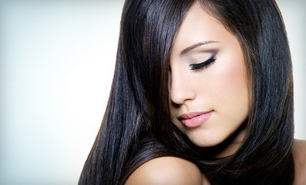 Cut and Condition with Smoothing Treatment, Partial Highlights, or Ombre Color at Fine Lines Hair Salon (Up to 58% Off)