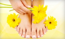 One or Two Aromatherapy Mani-Pedis with French Polish, Massage, or Waxing at L'Europe Nails and Spa (Up to 57% Off)