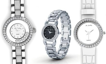Relógio em pele, relógio Luxx ou relógio Crystal com Swarovski Elements desde 34,99€ ou dois por 69,99€