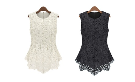 Jade and Juliet Women's Embroidered Lace Top