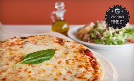 Large Specialty Pizza and Salad or $7 for $15 Worth of Pizzeria Eats at Pacific Coast Pizza (Up to 53% Off)