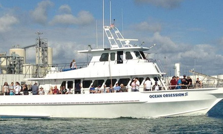 Half- or Full-Day Fishing Trip with a Restaurant Voucher from Obsession Charters (Up to 46% Off)