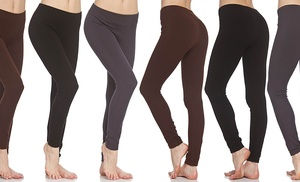 Women 39 s french terry leggings in assorted colors 6 pack for 88 kirkland salon reviews