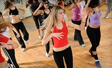 10 or 20 Zumba Classes at Fred Astaire Dance Studios (Up to 77% Off)