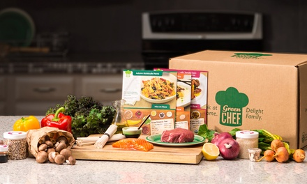 Three Organic Meal Kits for Two or Four People Delivered from Green Chef (Up to 61% Off)