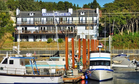 One-, Two-, or Three-Night Stay for Two with a $20 Dining Credit at The Harbor Lights Inn in Depoe Bay, OR