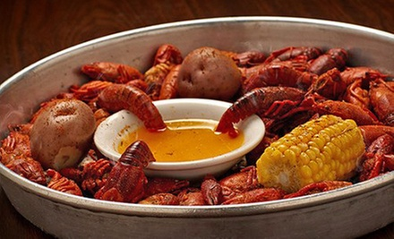 Cajun Dinner for Two with Appetizer and Entrees or $10 for $20 Worth of Cajun Food at Jazz, a Louisiana Kitchen