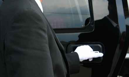 One-Way or Round-Trip Airport Transportation in SUV from Blessed Limousine Inc. (Up to 46% Off)
