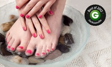 Spa Mani-Pedi or Shellac Manicure and Spa Pedicure at For Your Eyes Only Creative Hair Salon and Spa (Up to 54% Off)