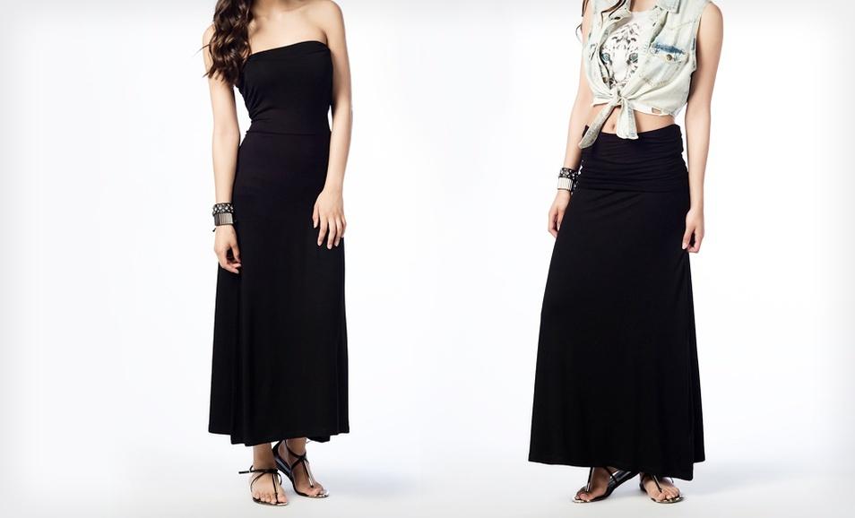 hayley convertible maxi skirt dress