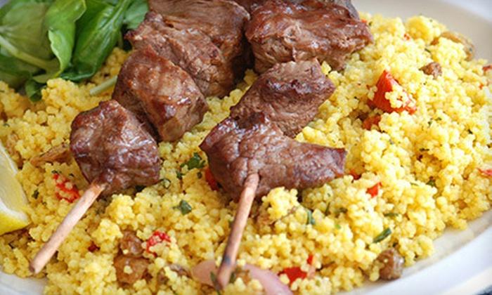 Mediterranean dinner divan mediterranean grill groupon for Divan kebab carte