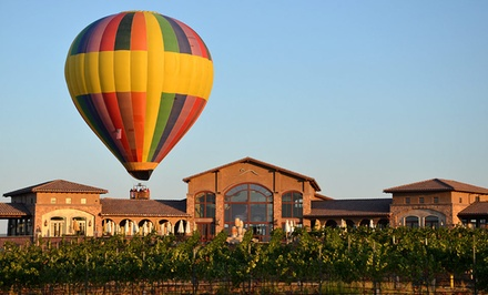 groupon daily deal - 1- or 2-Night Stay for Two in Deluxe Suite with a Balloon Flight from Tuscany Hills Resort in Escondido, CA