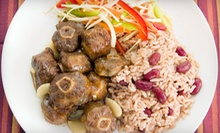 Caribbean Food at Mi'irie Mon Caribbean Restaurant (Half Off). Two Options Available.