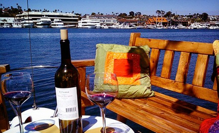 90-Minute Newport Bay Cruise for Two or Up to Six with Wine and Appetizers at Ship 'n a Bottle (Up to 56% Off)