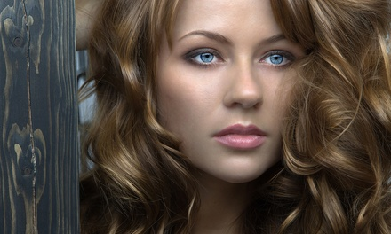 Haircut Package with Optional Partial Highlights, or Keratin Treatment at Evolution Hair Designs (Up to 53% Off)