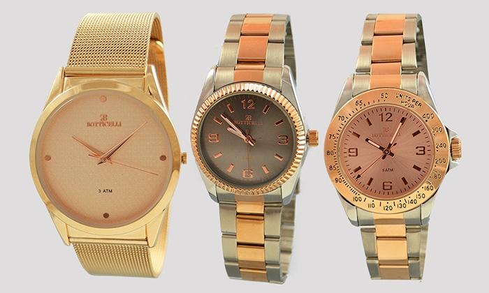 Relógio Botticelli disponível em vários modelos desde 39,99€