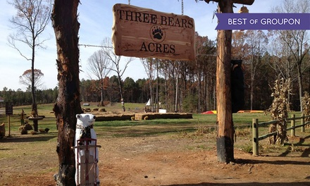 Day Pass for One, Parent and Child, or Family of Four, or Birthday Party at Three Bears Acres (Up to 54% Off)
