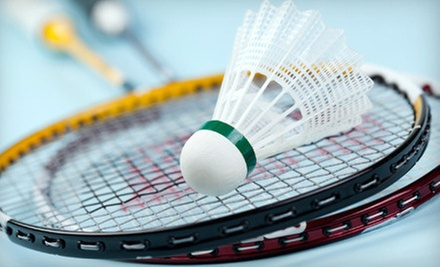 Badminton for Two or Four with Rental Rackets at Bay Badminton Center (Up to 65% Off)
