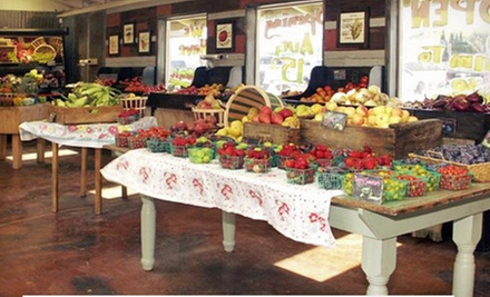 $15 for Three $10 Vouchers for Fresh Produce at Fresh from D&#x27;Vine ($30 Total Value)