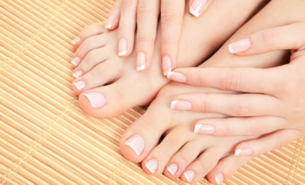 One or Two Classic Mani-Pedis or One Shellac Mani-Pedi at a. Salon Galleria &amp; Spa (Up to 54% Off)