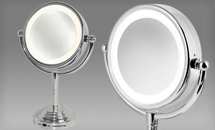 Ovente Tabletop Lighted Cosmetic Mirror