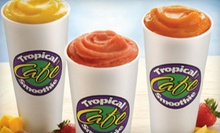 Sandwiches or Wraps, Smoothies, Chips, and Cookies at Tropical Smoothie Caf (Up to 51% Off). Three Options Available.