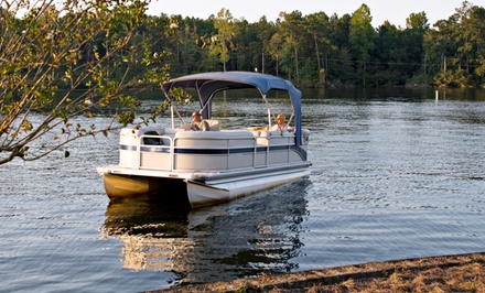 Full-Day Deluxe Pontoon Boat Rental with Option for Tube Rental at Beach Island Marina (47% Off)