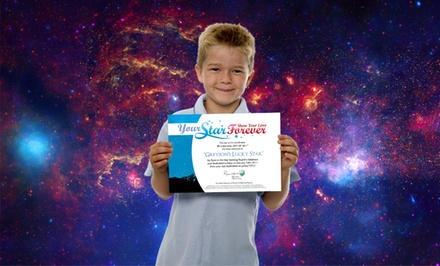 Name One or Two Stars with a Personalized Video, Message, Photo, and Certificate from Your Star Forever