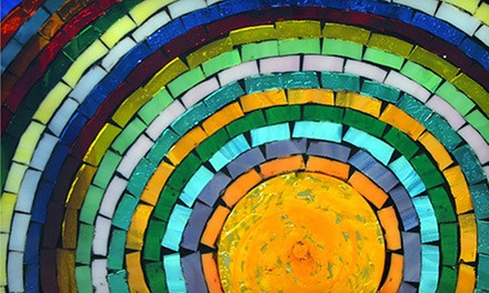 Beginners' Glass-Mosaic-Making or Stained-Glass-Making Class for 1 or 2 at Ocean Stained Glass (Up to 55% Off)