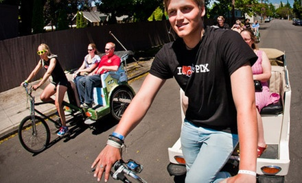$25 for a 2.5-Hour East-Side Pedicab Brewery Experience for Two from PDX Pedicab ($50 Value)
